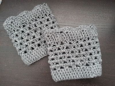 Crochet from J: Lacy Scalloped Boot Cuff