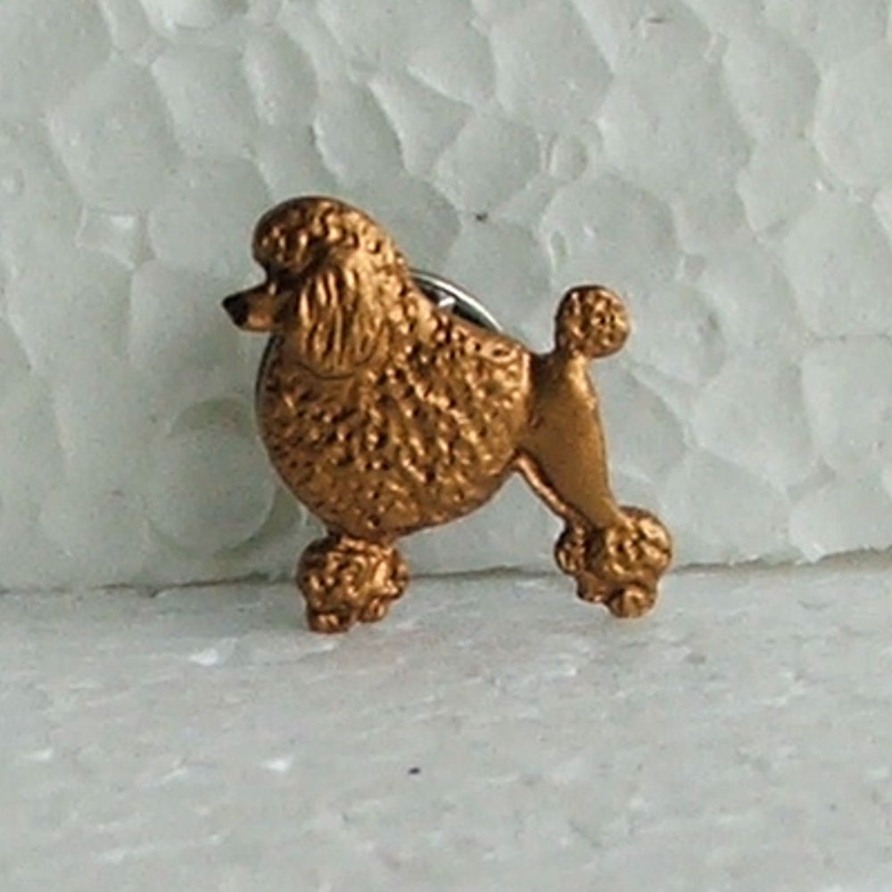 Poodle Red Honey Lapel Pin Dog Breed Jewellery Handpainted