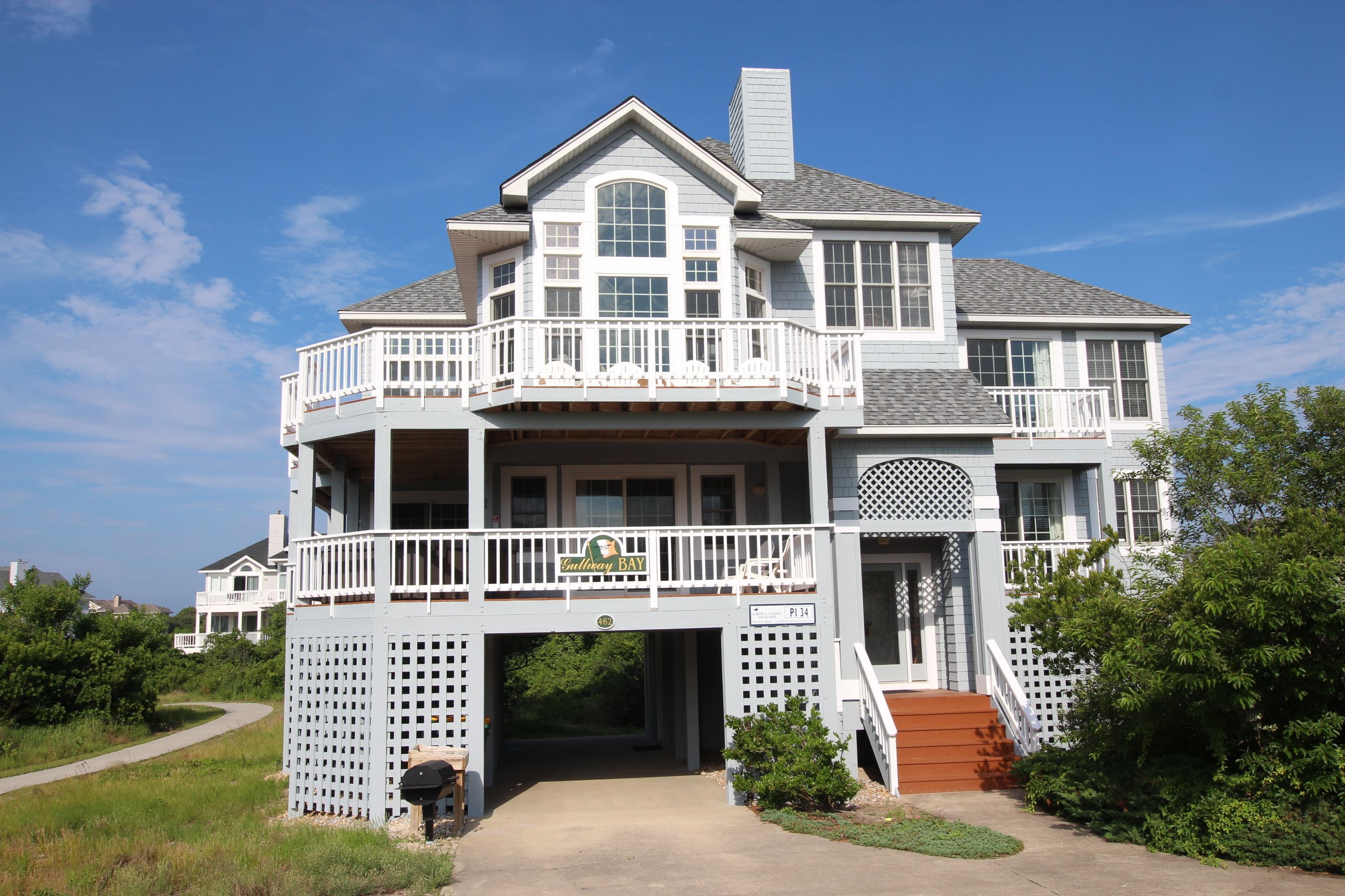 Gullway Bay 5 Bedroom 4 5 Bathroom Semi Oceanfront Private Hot Tub Community Pool And Tennis Baby Nc Vacation Rentals Vacation Rental Vacation Home