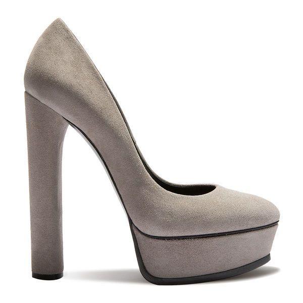 Suede platform pumps, Bright shoes