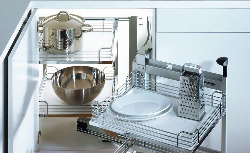 ensemble magic corner ii pour armoires de cuisine - rangement pour ... - Accessoires De Rangement Pour Cuisine