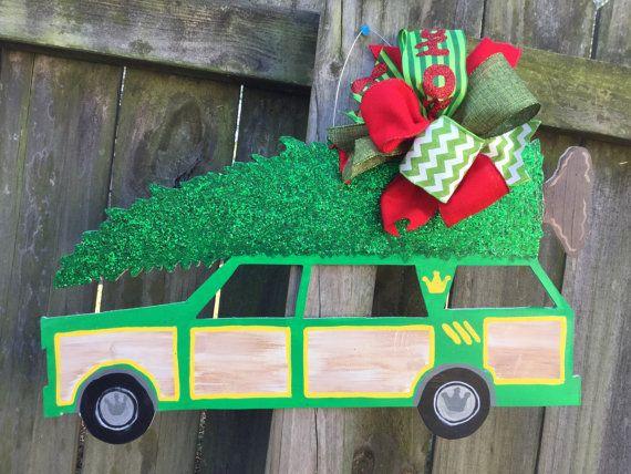 Griswold Family Christmas Tree Christmas Door Hanger Station Wagon Door Hanger Christmas Vacation Door Hanger Christmas Tree Door Hanger