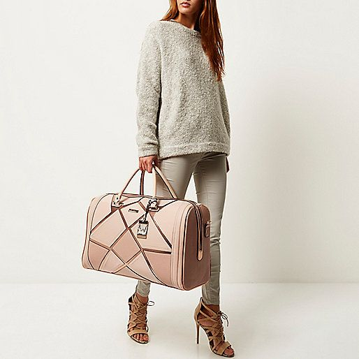 OBSESSED! MUST HAVE! - Pink patchwork weekend bag - River Island