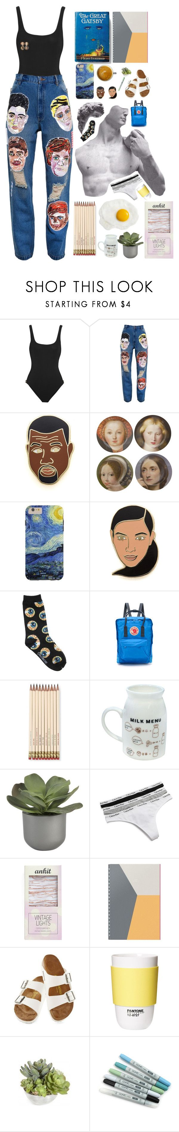 """""""cover"""" by helooksoperfc ❤ liked on Polyvore featuring Orlebar Brown, Ashish, Georgia Perry, Fjällräven, Kate Spade, Crate and Barrel, Calvin Klein Underwear, Streamline NYC, russell+hazel and Birkenstock"""
