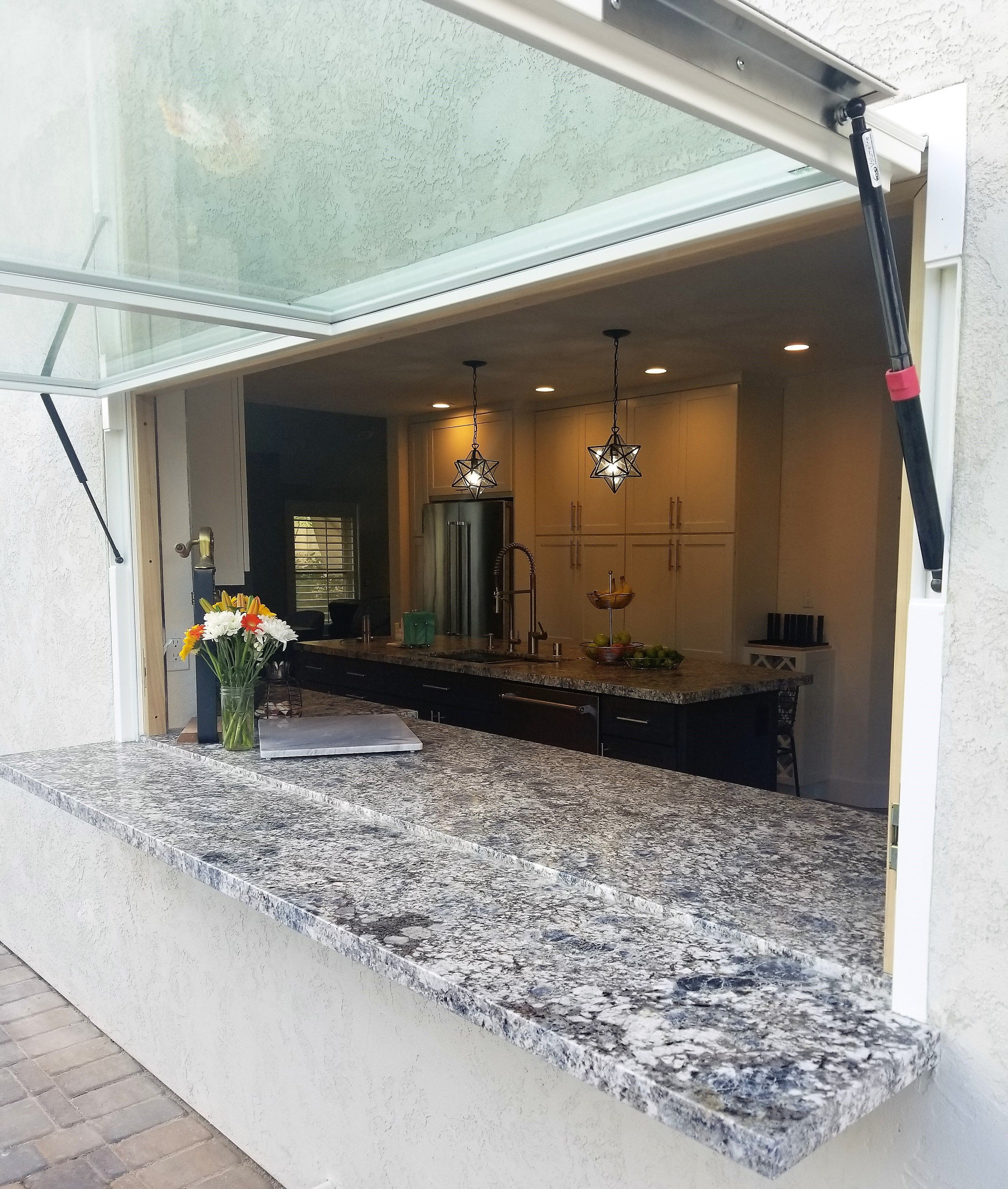 San Diego Has Been Flipped Out Indoor Outdoor Kitchen Pass Thru