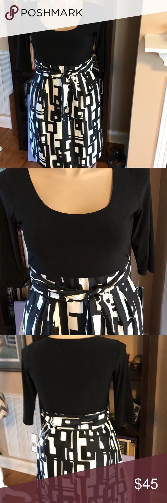 a79081b228746 Jessica Howard Dress Sz 14 Missy NWT Black & Ivory Jessica Howard Dress Sz  14 Missy. The bottom portion is lined. Machine washable. Black & Ivory. NWT.