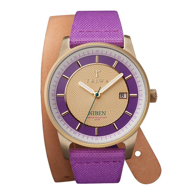 Triwa horloge Purple Gold Niben (gratis verzending bij Kish.nl) | http://www.kish.nl/Triwa-horloge-Purple-Gold-Niben/
