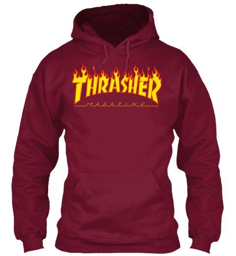 Thrasher Hoodie Burgundy Sweatshirt Front  16af01d72