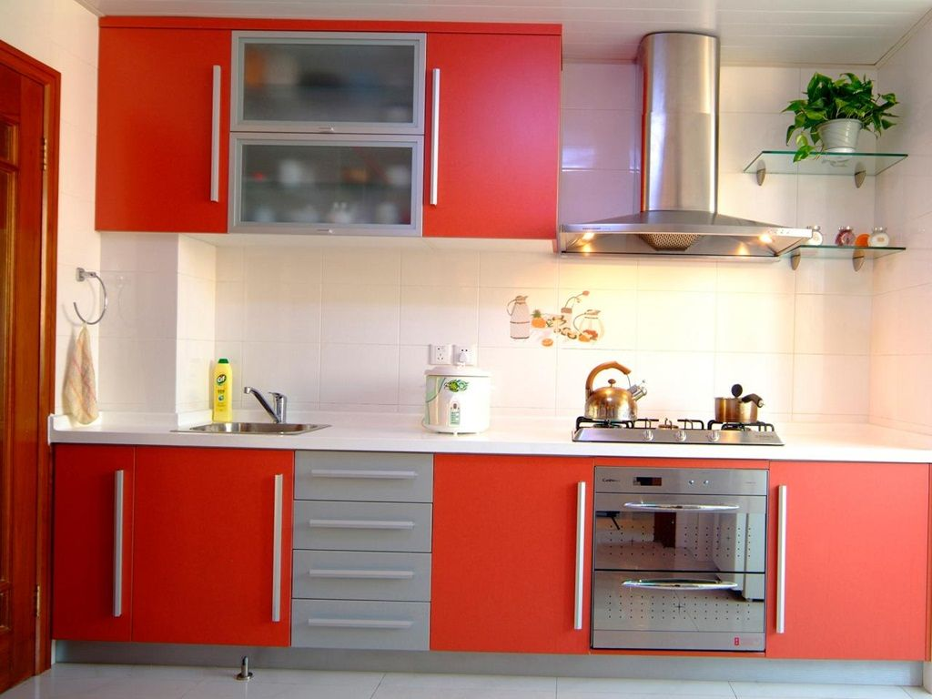 Small Kitchen Cupboards A Touch Of Beauty Harmony And Functionality Simple Kitchen Remodel Red Kitchen Cabinets Kitchen Remodel Small