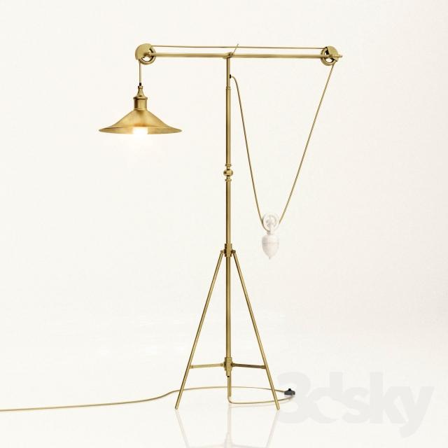 3d Models Floor Lamp Counter Balance Floor Lamp Floor Lamp Flooring Lamp
