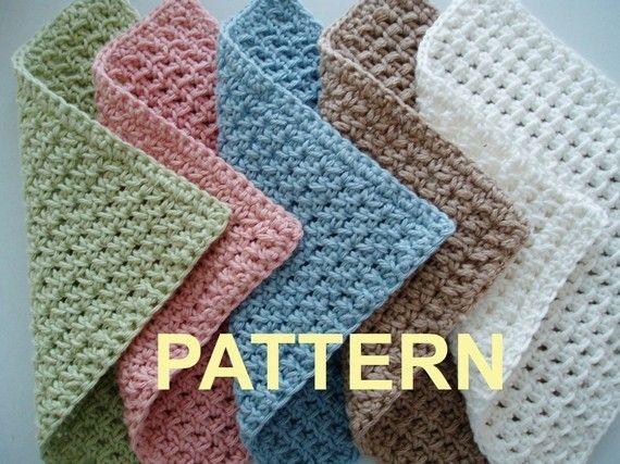 Waffle Crochet Spa Washcloth Pdf Pattern Ok To Sell Finished Items