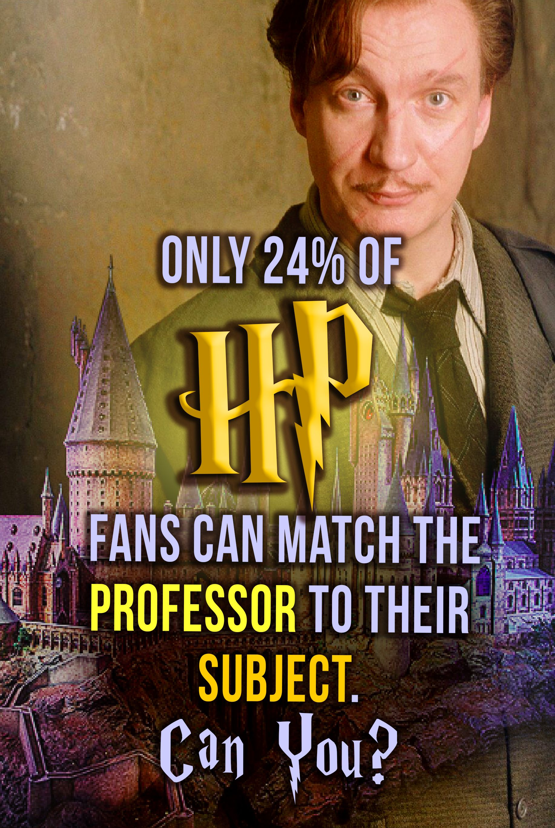 Only 24 Of Hp Fans Can Match These Professor To Their Subject Can You I