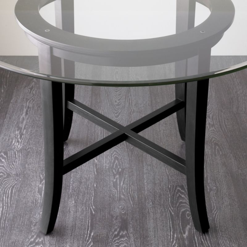 "halo ebony round dining table with 42"" glass top - crate and barrel, Esstisch ideennn"