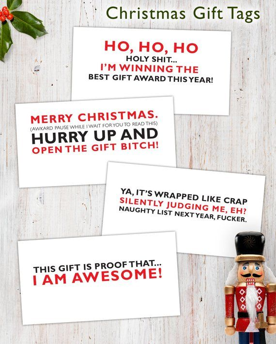 Funny Christmas Gift Tags Products Pinterest Christmas