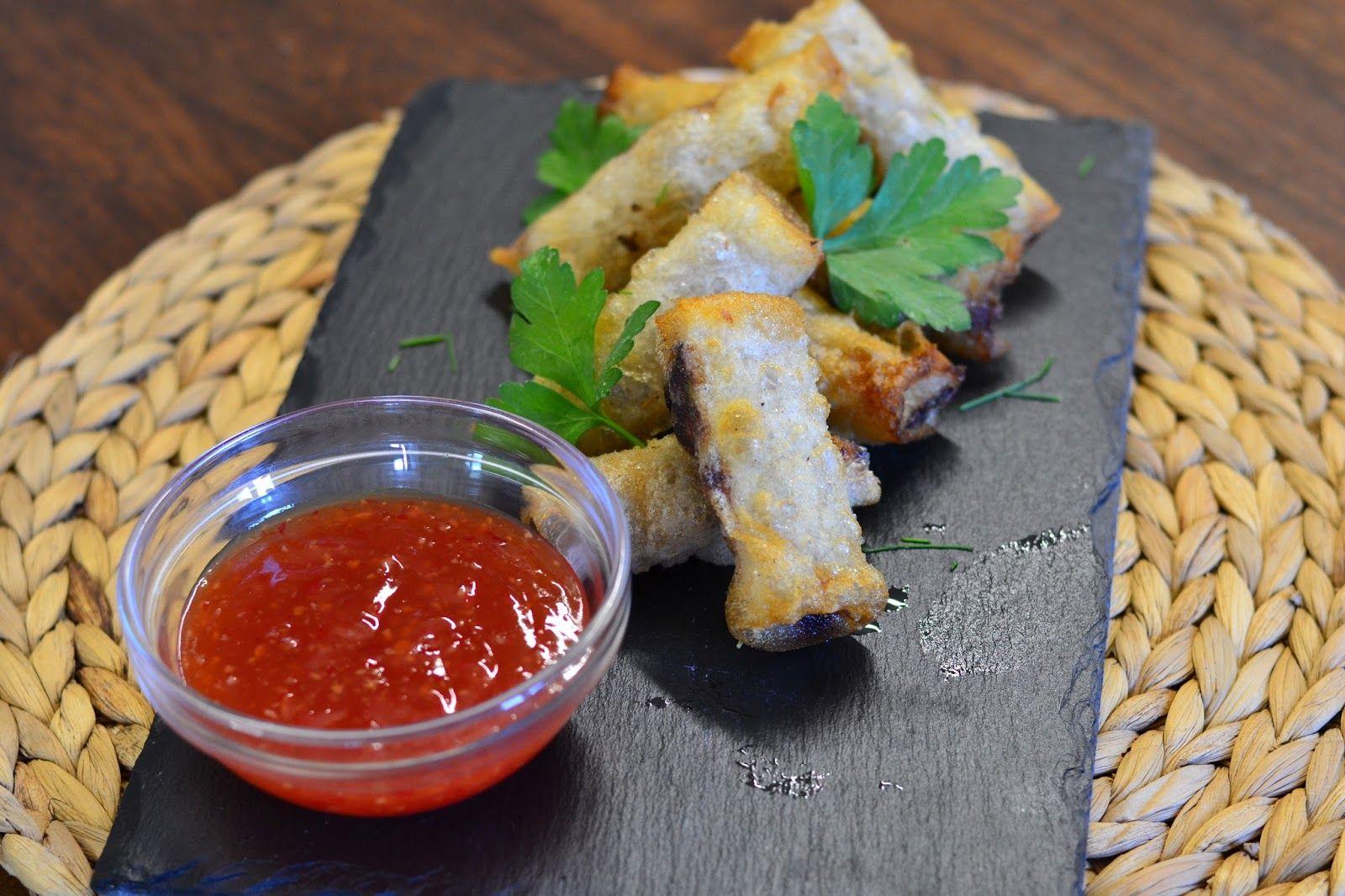 Petiscana: Rolinhos vietnamitas de frango e legumes com molho sweet thai chilli