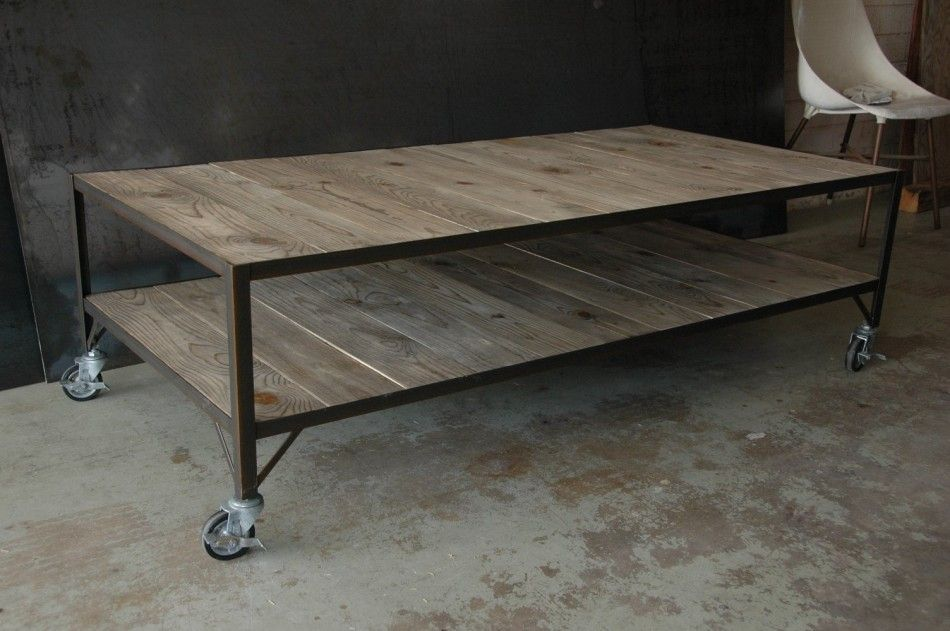 French Industrial Coffee Table Inredning Pinterest French Industrial Industrial And Pallets