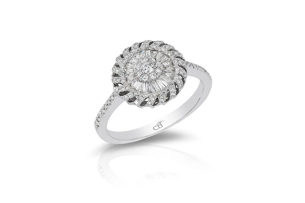 14K White Gold Diamond Ring Colombian Emeralds International