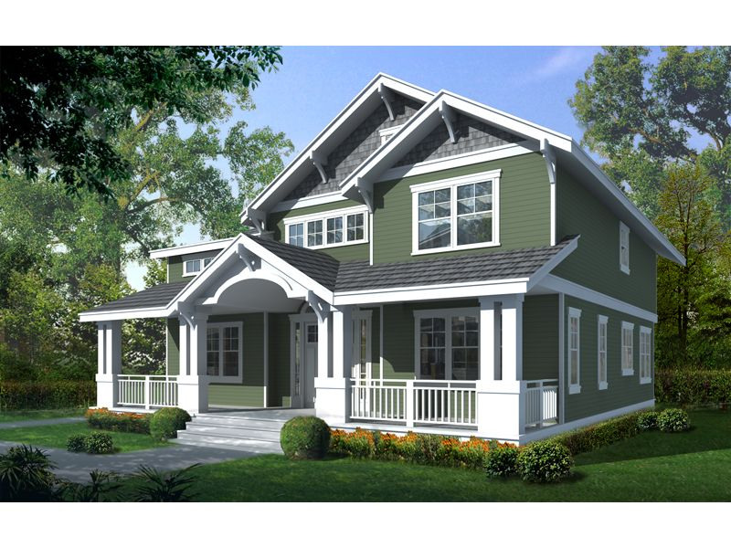 Carters Hill Craftsman Home Craftsman Style House Plans