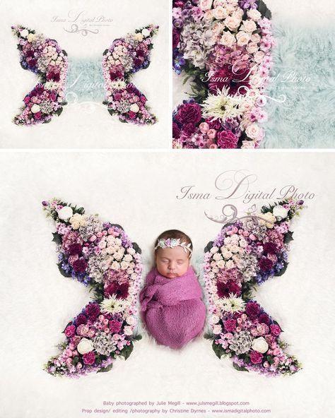 Butterfly flower - Digital backdrop /background