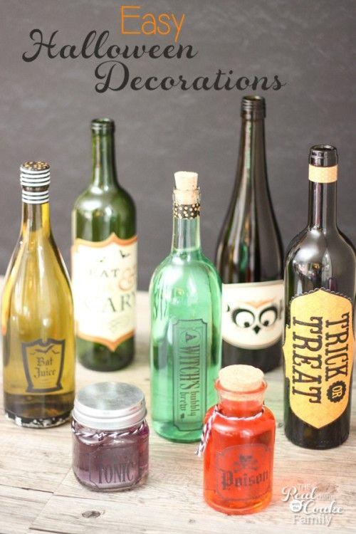 Wine Bottles Make Easy Halloween Crafts crafts Pinterest Easy - frozen halloween decorations