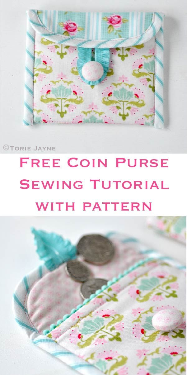 Free coin purse sewing tutorial with free pattern by Torie Jayne ...