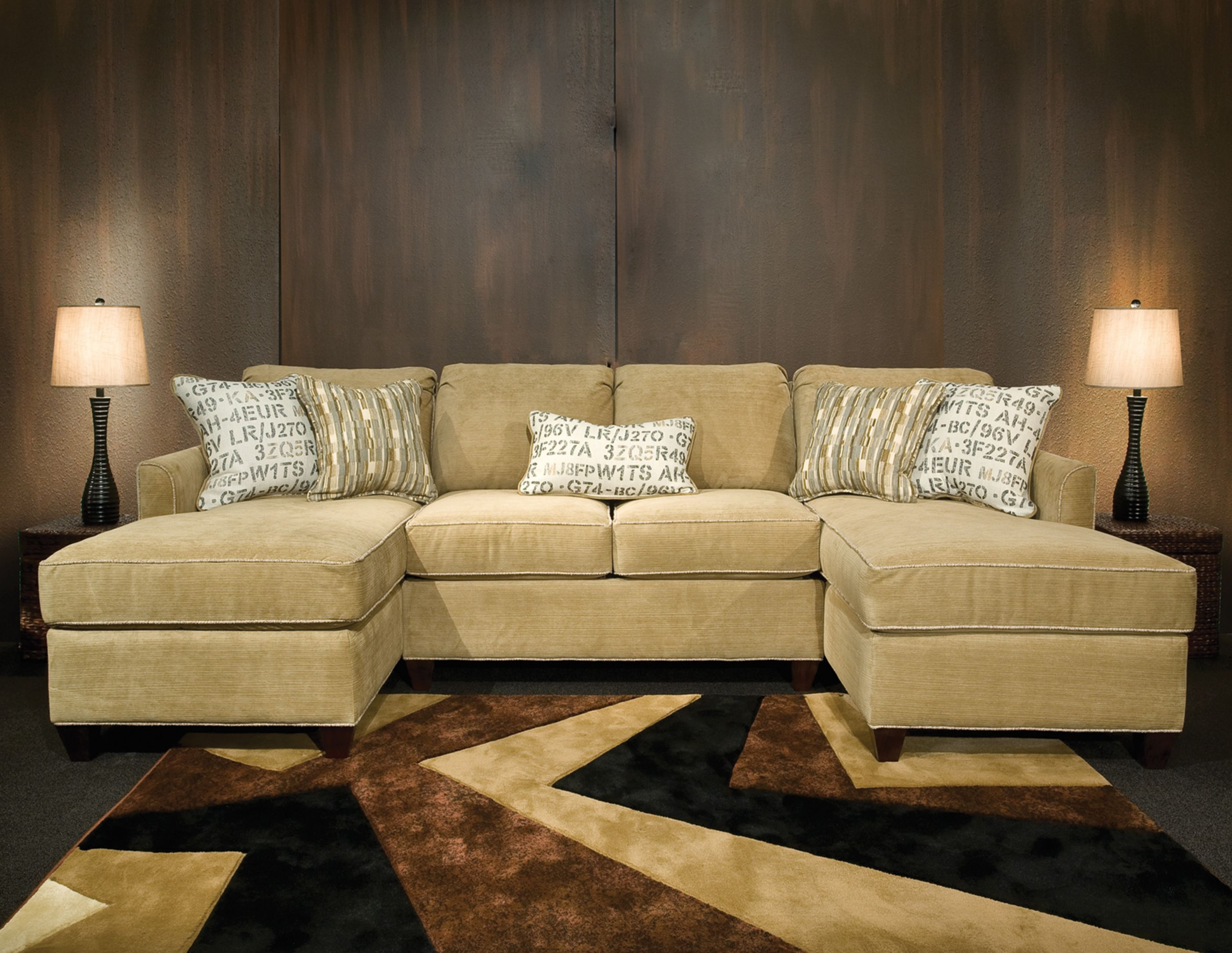 Amusing Double Chaise Sectional Sofa 22 On Black Fabric Sectional