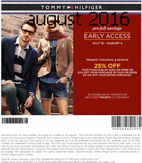 photograph regarding Tommy Hilfiger Outlet Coupon Printable titled Printable Discount coupons: Tommy Hilfiger Discount codes Absolutely free Printable