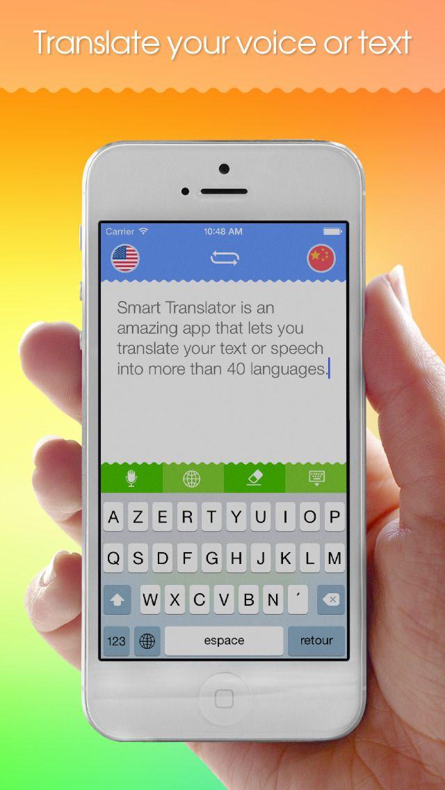 Smart Translator: Speech and text translation from English