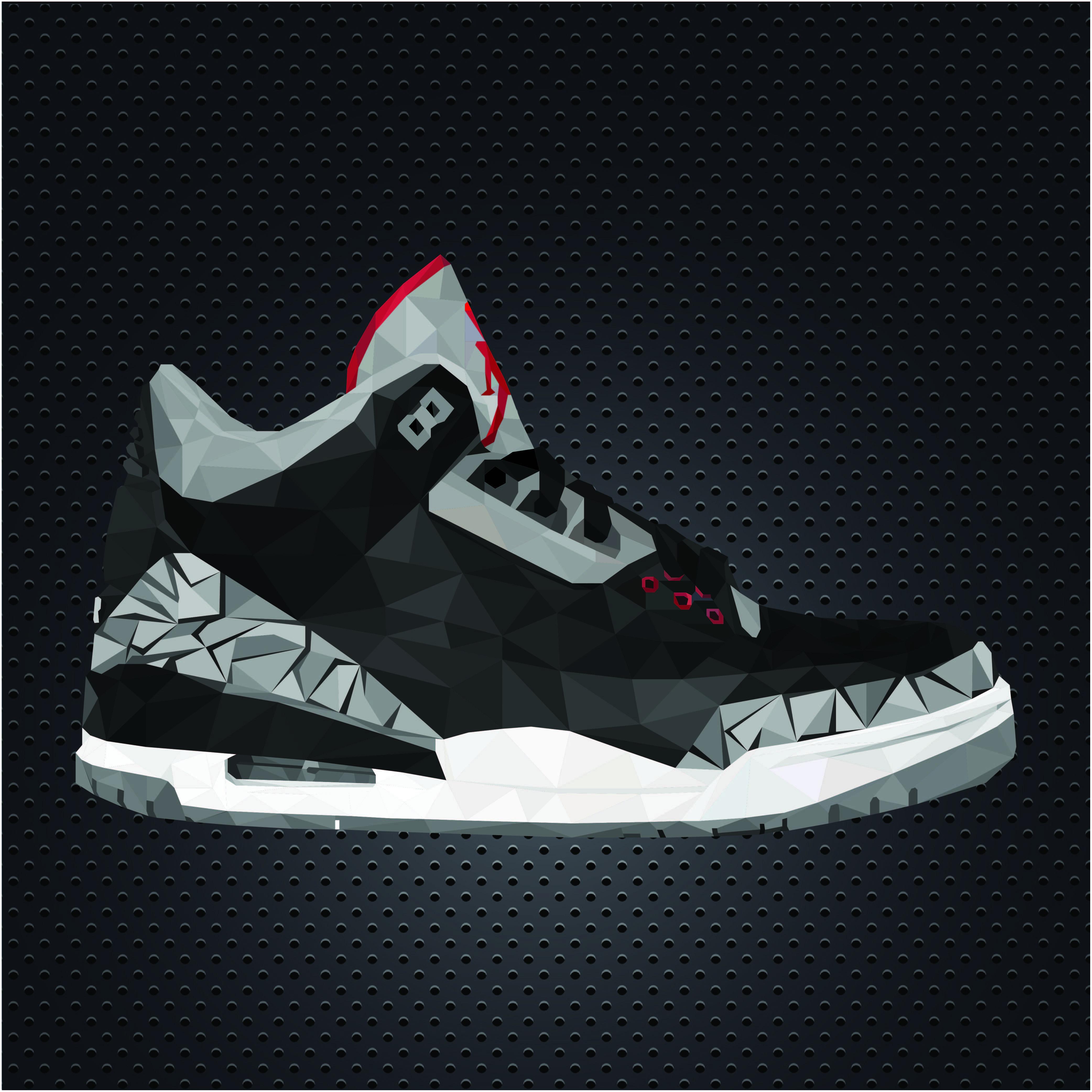 GCSE Art project: Nike Air Jordan 3 illustration