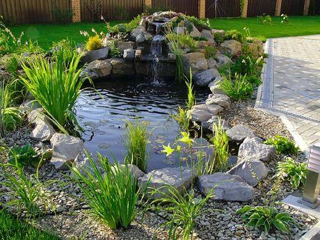 estanque con cascada - Estanques Jardin