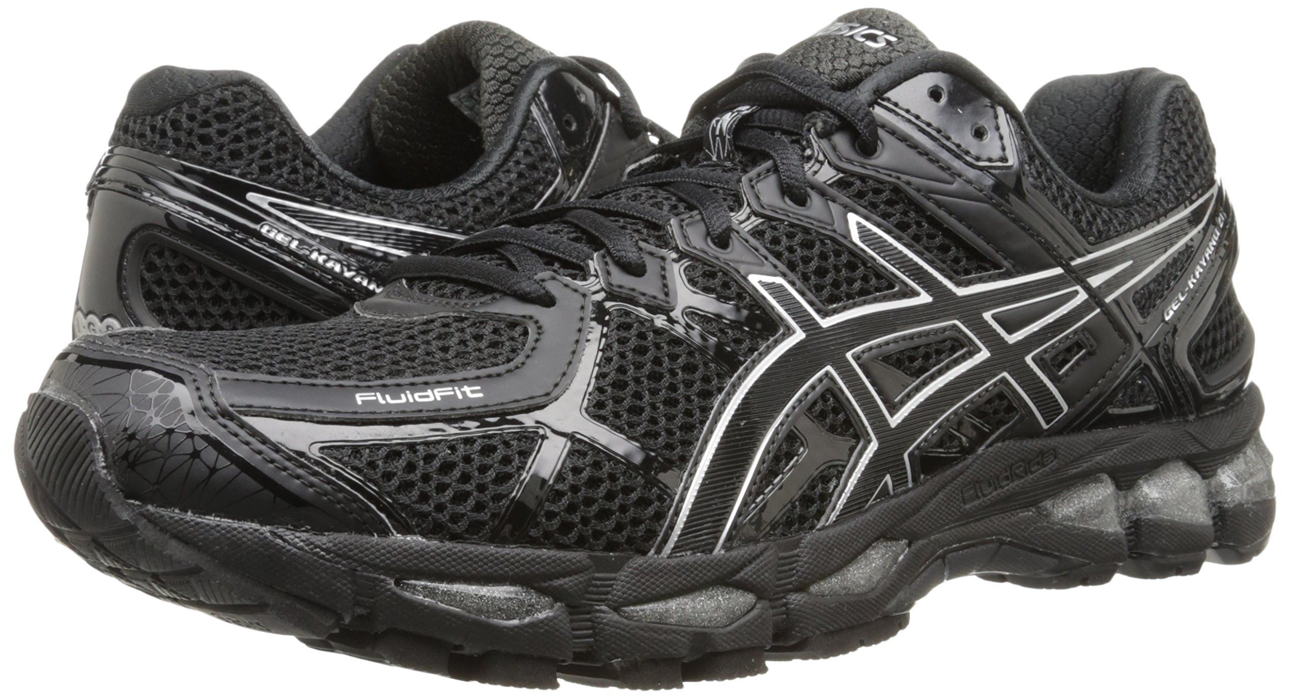 designer fashion 4638f 32663 Amazon.com  ASICS Men s Gel Kayano 21 Running Shoe   Color  Onyx   Black    Silver