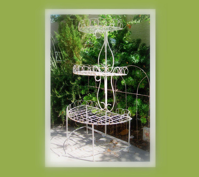 Garden Decor Vintage Plant Stand, Home Decor, FRENCH GARDEN, Cottage ...