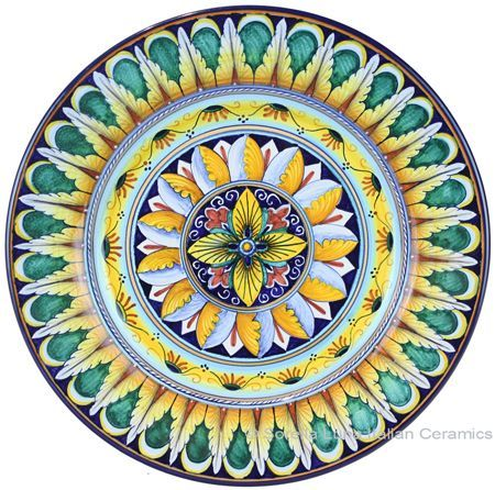 Deruta Italian Salad Plate Geometrico  sc 1 st  Pinterest & Deruta Italian Salad Plate Geometrico | Home ideas and art ...