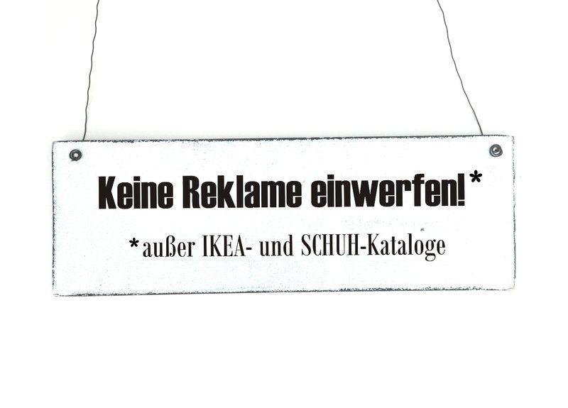 Holzschild Keine Reklame Schild Dekoschild Shabby Von Dorpkind Auf