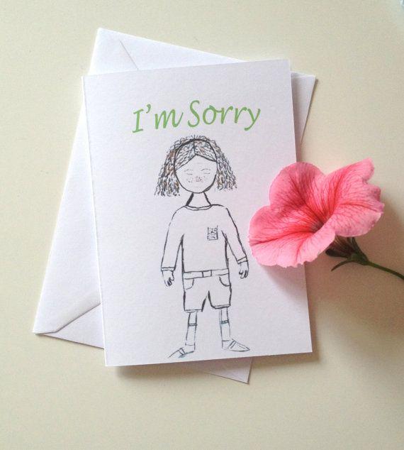 Im sorry greetings card racheal miles designs pinterest im sorry greetings card m4hsunfo