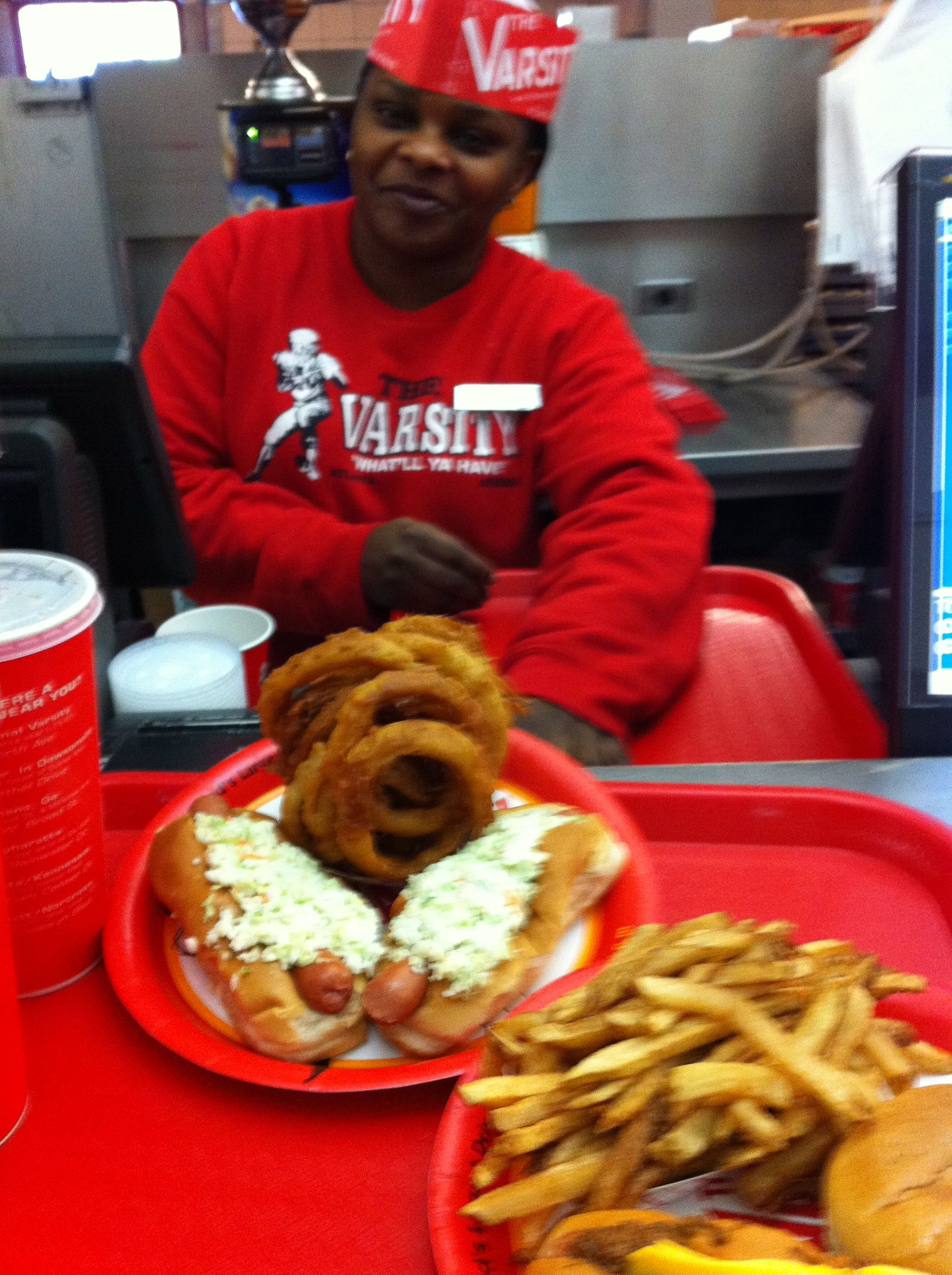 Slaw Dogs and Onion Rings or ANYthing from the Varsity