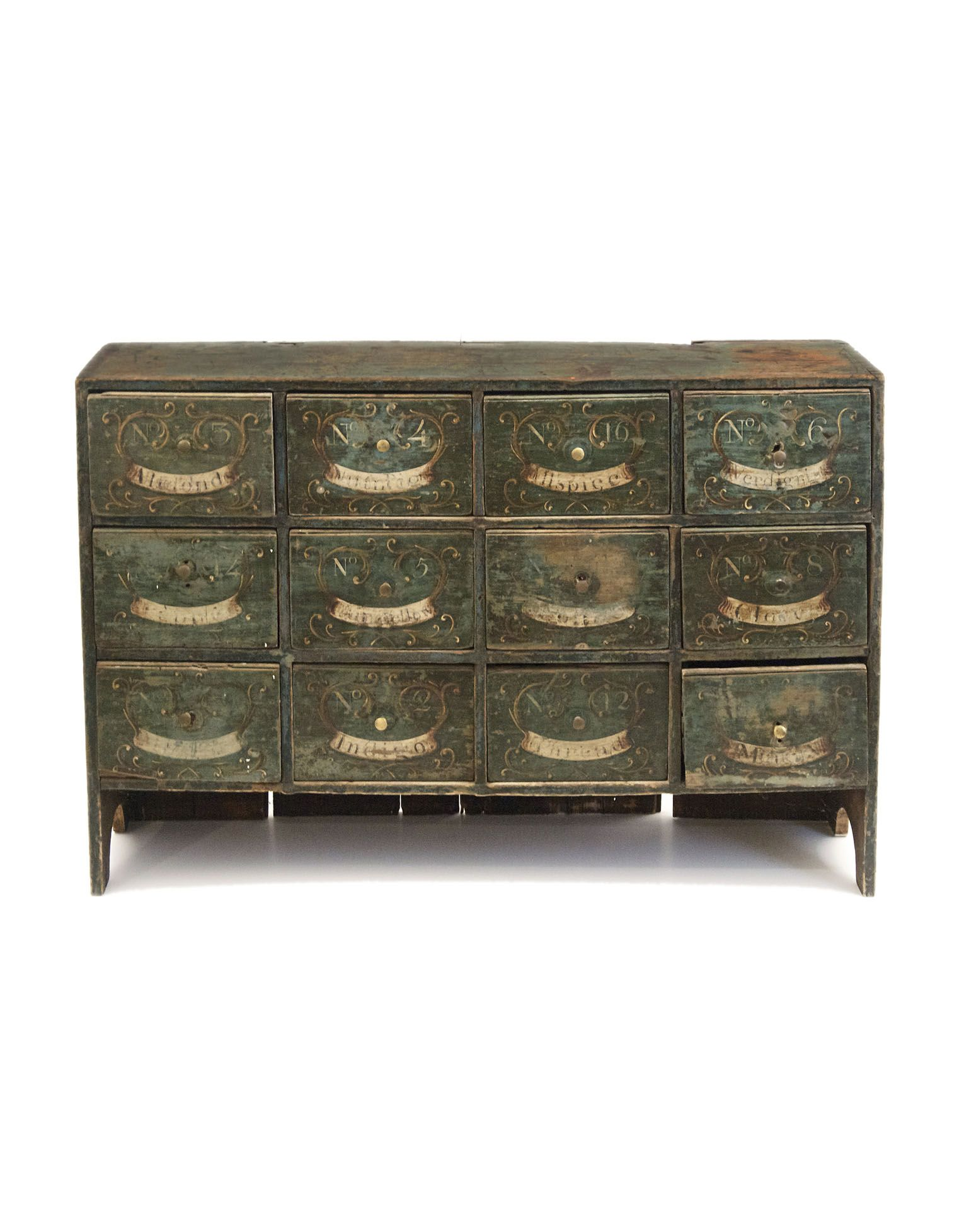 Lot 100: Early Apothecary Chest | Apothecary, Spice drawer ...