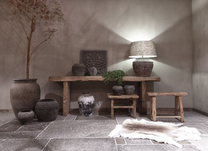 Rustieke sidetable interieur pinterest bankjes landelijk wonen en interieur - Deco entreehal ...