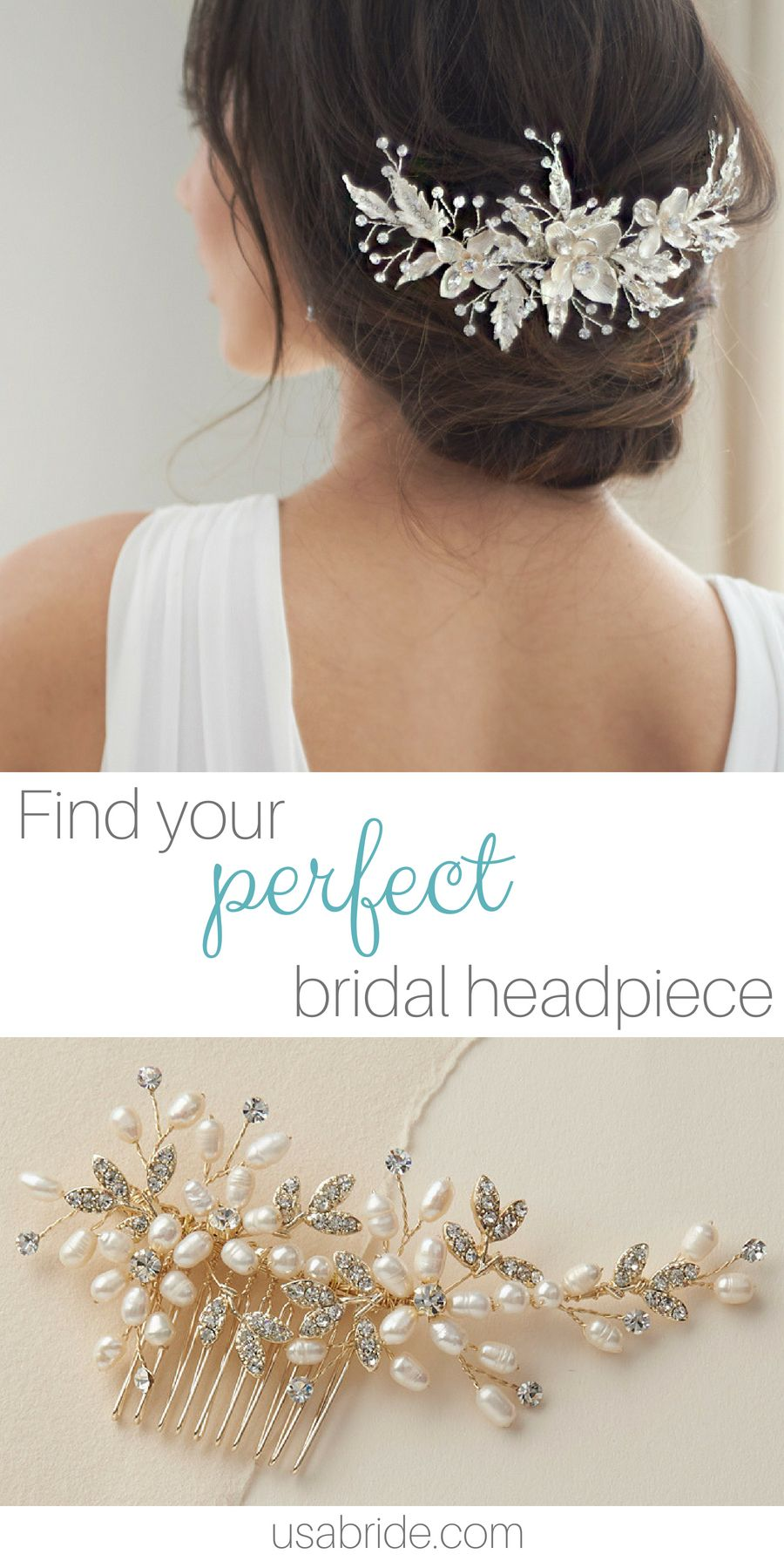 shop bridal hair combs, hair pins and back pieces for your