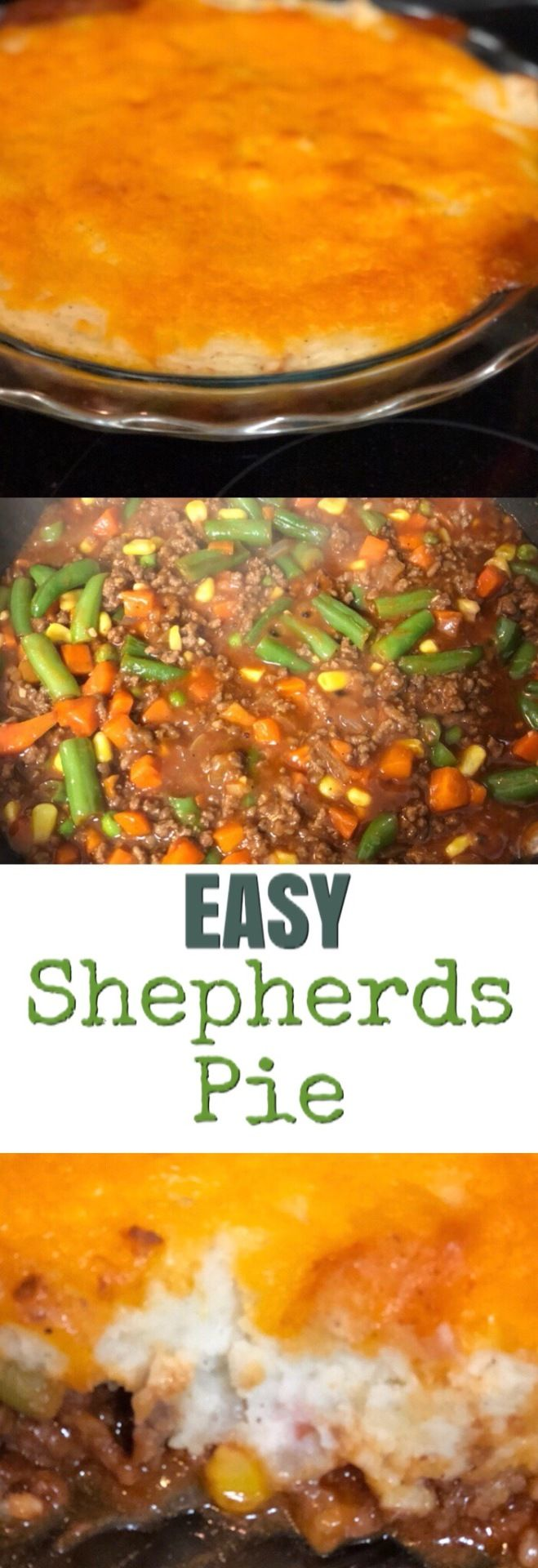 This shepherds pie is a classic. It is definitely a staple meal in my household. You can make this ahead of time and store in your freezer until ready to use, for a delicious dinner option when you are not feeling up to cooking.  Ingredients: 1lb hamburger meat 1 small onion, diced 1 tablespoon minced garlic 2 tablespoons Worcestershire sauce  14oz frozen mixed vegetables  14oz can tomato soup 2 tablespoons A1 sauce 4-5 large potatoes, mashed and seasoned to your liking  Shredded cheese #hamburgermeatrecipes