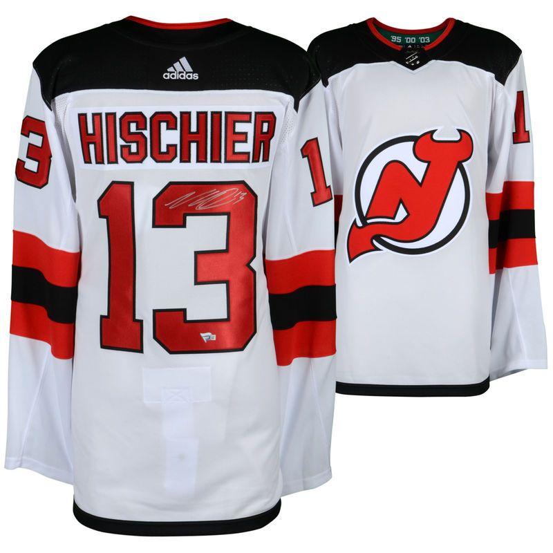 100% authentic a9adb a7e67 Nico Hischier New Jersey Devils Fanatics Authentic ...