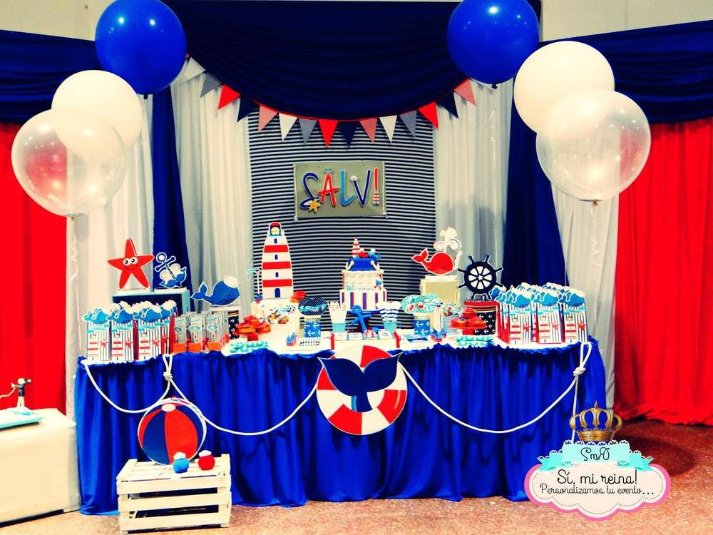 Nautical birthday party ideas fiestas cumple y cumplea os - Decoraciones para postres ...