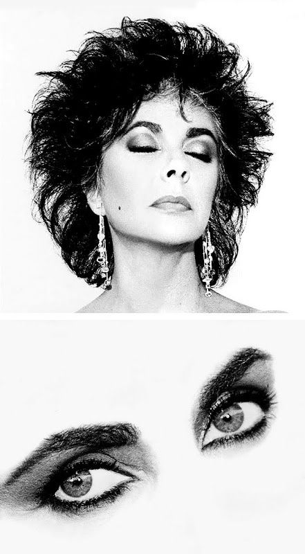 Elizabeth Taylor photographed by Wayne Maser for Vogue, 1987.