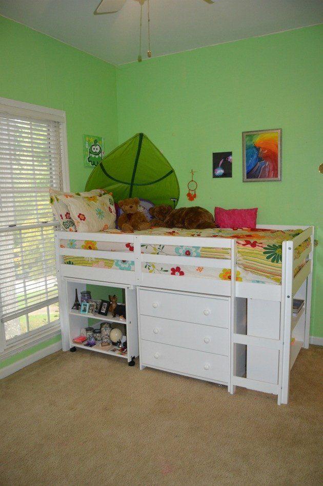 Best Ava Kid S Furniture Set With Twin Loft Bed Desk Dresser 400 x 300