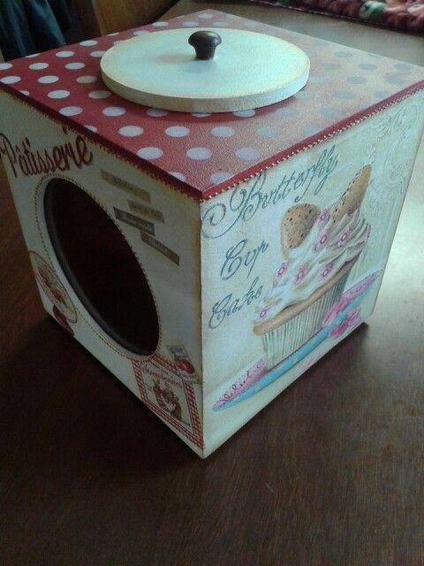 Caja Para Galletitas Decoupage Con Imagenes Cajas Decoradas