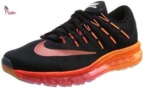 chaussures de sport d1729 45aa8 Nike Air Max 2016, Chaussures de Running Homme, Noir (Black ...