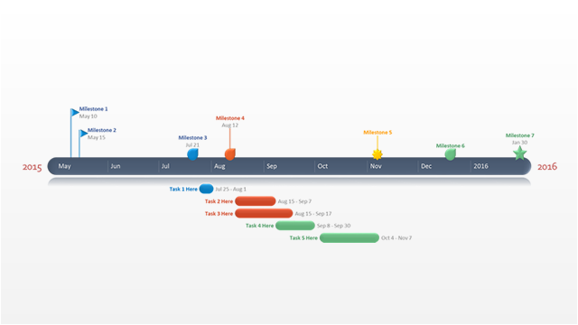 PowerPoint Timeline Template The PowerPoint timeline template has ...
