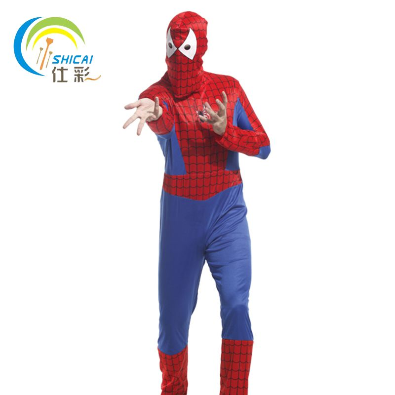 Spider Man Costume Superhero Cosplay Party Activities Halloween Christmas Carnival Adult Man Dress Up
