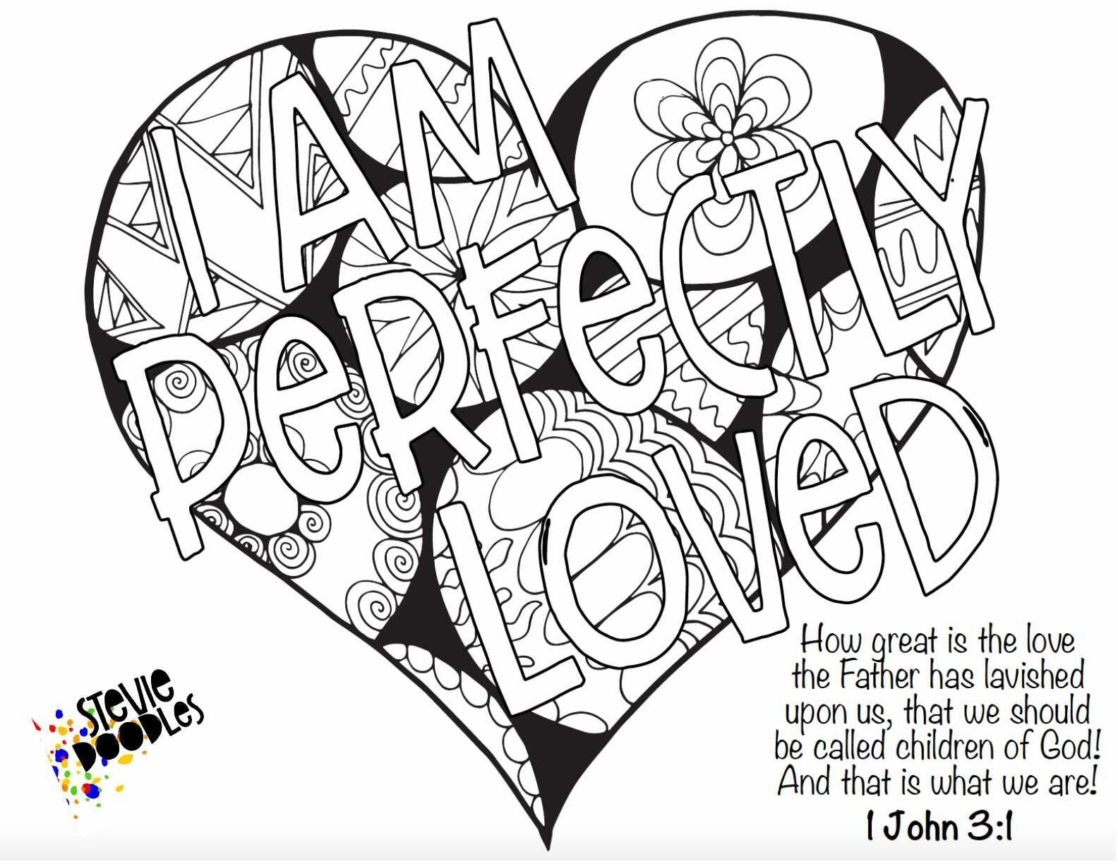 4 Free Identity In Christ Coloring Pages Free To Print And Color Stevie Doodles In 2020 Coloring Pages Bible Coloring Pages Bible Verse Coloring