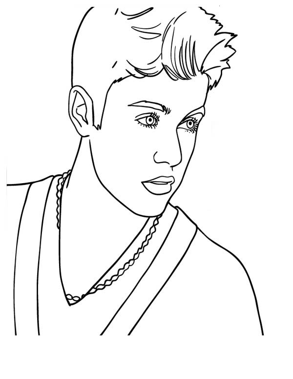Canadian Pop Singer Justin Bieber Coloring Page Netart In 2020 Coloring Pages People Coloring Pages Star Coloring Pages